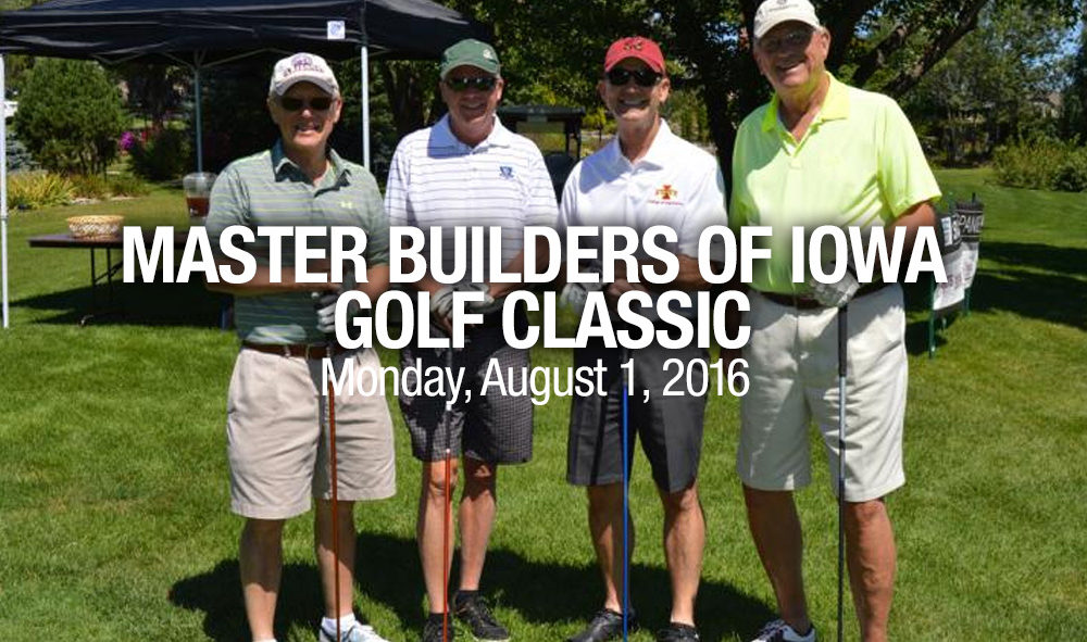 Master builders of iowa golf classic iowa roofing for Classic builders iowa