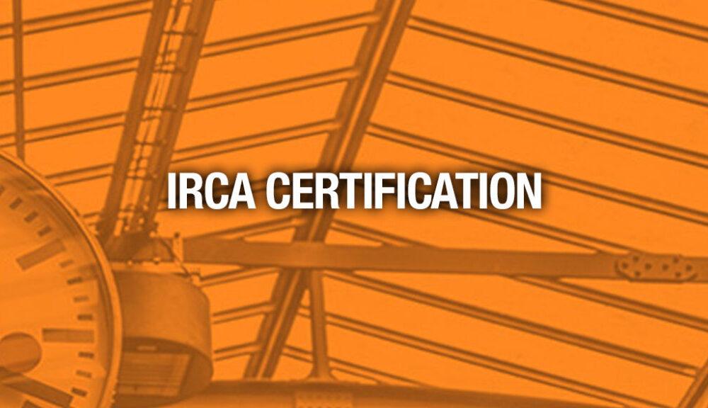 IRCA Contractor Certification