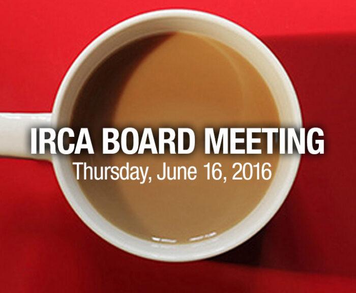 IRCA Board Meeting
