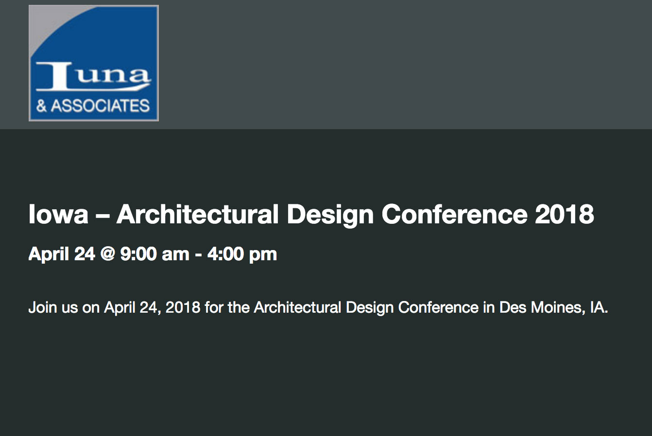 2018 Architectural Design Conference | Iowa Roofing